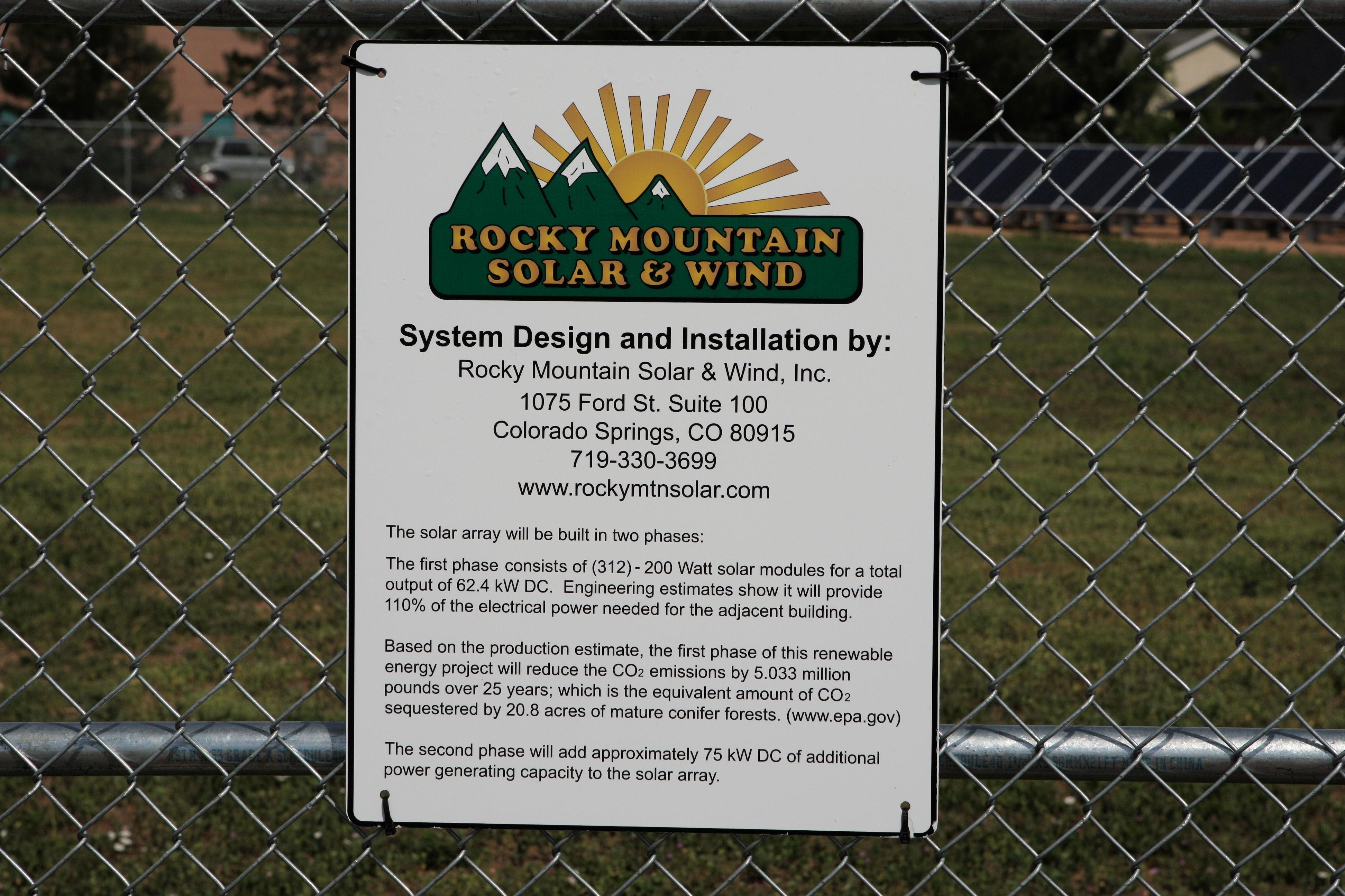 Photos - Rocky Mountain Solar & Wind, Inc.   Colorado Springs, Colorado